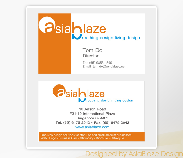 Asiablaze Our Works Namecard Design Reheart Gallery